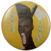 Grace Jones - 'Slave to the Rhythm Yellow' Button Badge